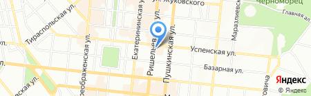Космос тревел на карте Одессы