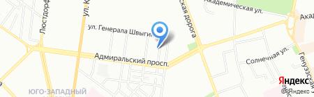 Союз моряков Торгового Флота на карте Одессы