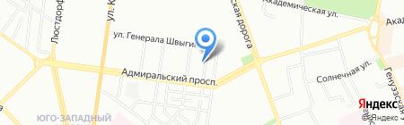 Санта-Круз на карте Одессы