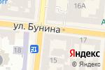 Схема проезда до компании Стоковый магазин одежды в Одессе