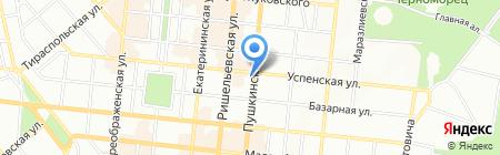 ЮСМ-уют на карте Одессы