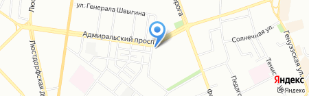 Ощадбанк на карте Одессы