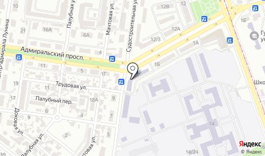 Ощадбанк. Схема проезда в Одессе