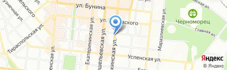 Уютное на карте Одессы