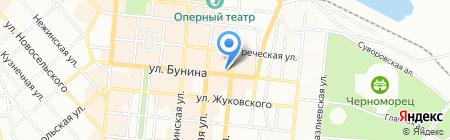 Единение на карте Одессы