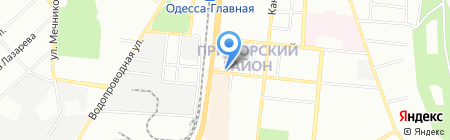 Жетем на карте Одессы