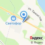 АЗС Нева-Ойл на карте Санкт-Петербурга