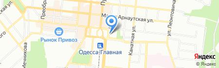 Приват тур на карте Одессы