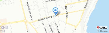 Залюбки на карте Одессы