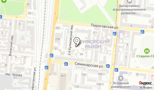 Одесский областной врачебно-физкультурный диспансер. Схема проезда в Одессе