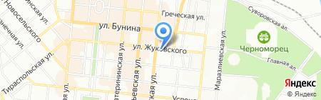 Трубадур на карте Одессы