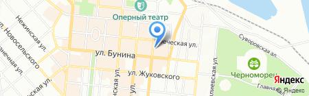 Остра на карте Одессы