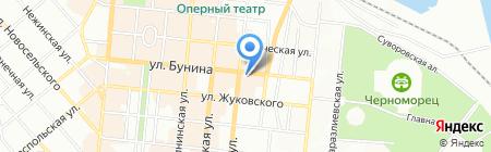 Бернардацци на карте Одессы