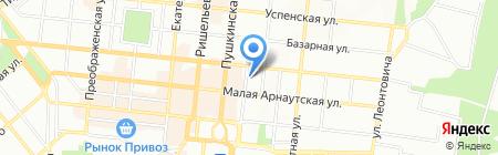 Веселка туризму на карте Одессы