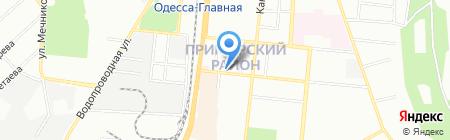 Кристалл тур на карте Одессы