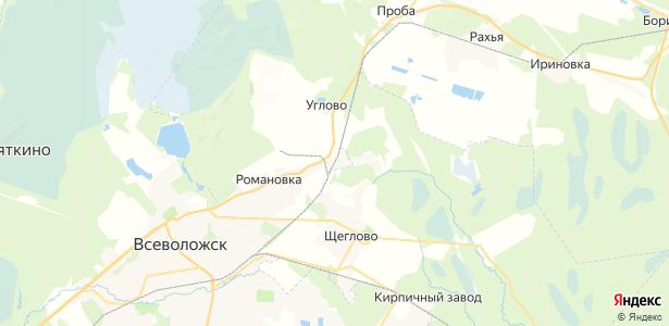 Корнево на карте