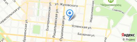 Апартаменты на карте Одессы