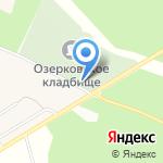 Озерковское кладбище на карте Санкт-Петербурга