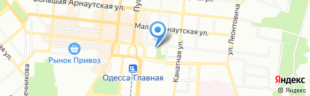 Адиком-Тревел на карте Одессы