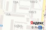 Схема проезда до компании Будзинкан Минабуши Додзё Украина в Одессе