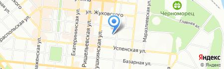 Оранта на карте Одессы