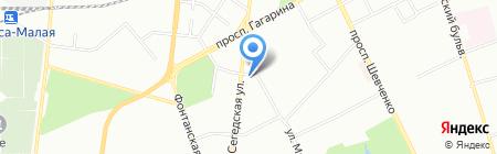 Гармаш на карте Одессы