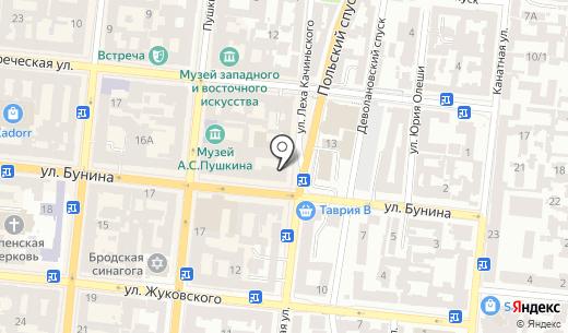 Ай Лав Ю Петрович. Схема проезда в Одессе