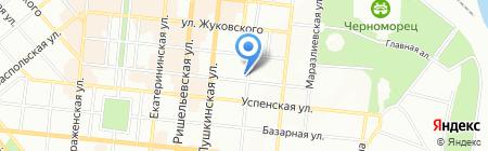 Фієста-тревел на карте Одессы