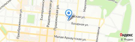 Лира на карте Одессы