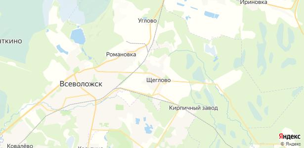 Щеглово на карте
