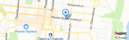 Интурист-Одесса на карте Одессы