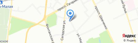 Микс на карте Одессы