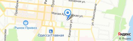 Море туров на карте Одессы