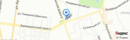 Капитал на карте Одессы
