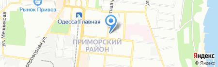 Корица на карте Одессы