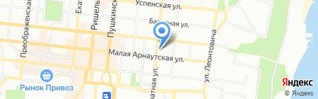 Мирас на карте Одессы
