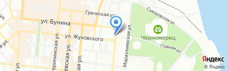 Марин-транс на карте Одессы