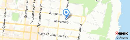 Олимпия на карте Одессы