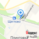 Щеглово на карте Санкт-Петербурга