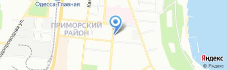 Княжа на карте Одессы