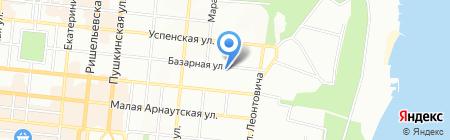 УКРЕКСІМБАНК на карте Одессы