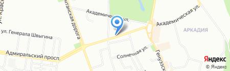 Аура комфорта на карте Одессы