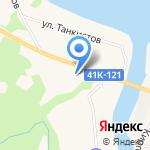 Часовня Георгия Победоносца на карте Санкт-Петербурга
