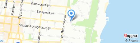 Чача на карте Одессы