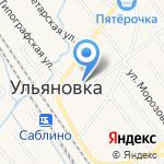 Саблино на карте Санкт-Петербурга