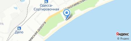 Краб на карте Одессы