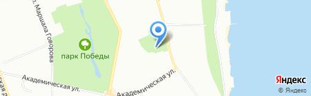 Ботанический сад на карте Одессы