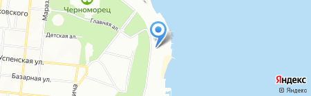 Хуторєць коло моря на карте Одессы