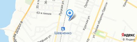 Диканька на карте Одессы