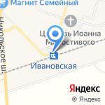 Ивановская на карте Санкт-Петербурга